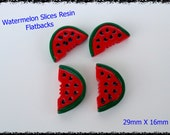 Resin Watermelon Slices Flatbacks Cabochons