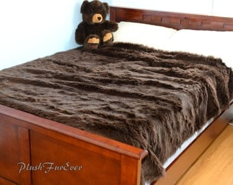 Popular Items For Faux Fur Bedspread On Etsy