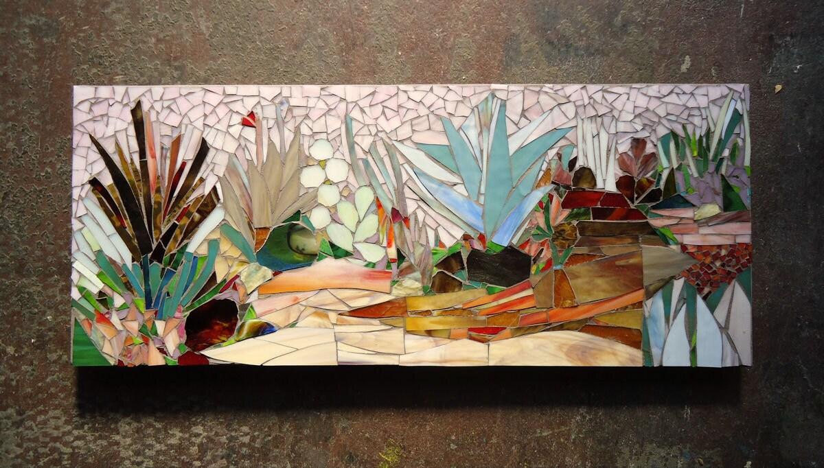 Cactus Garden Mosaic Art Made To Order Succulent Scene Patio