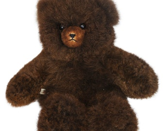 Genuine Alpaca Teddy Bear Hand Crafted in Animal Friendly Fur