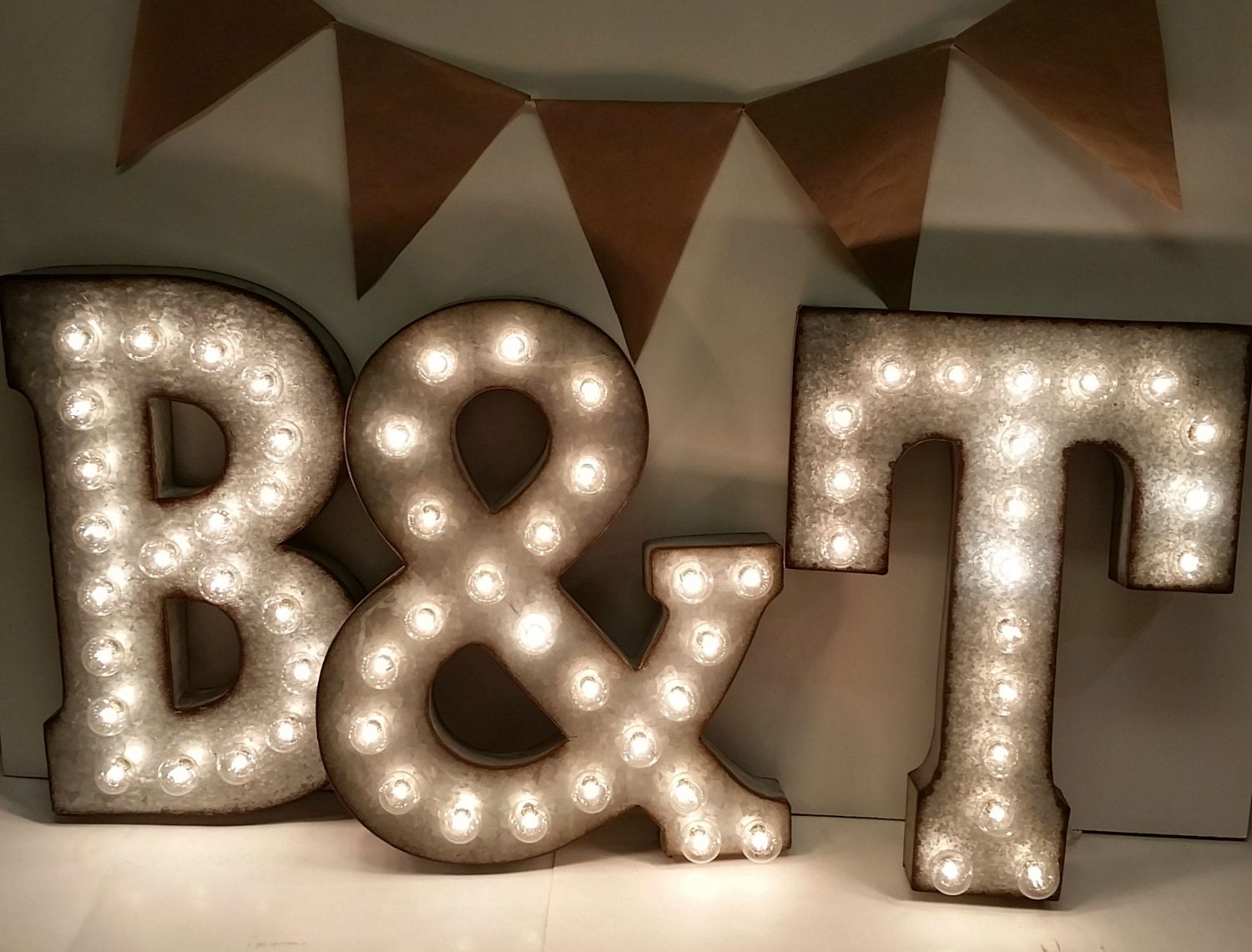 Galvanized Metal Letters Galvanized Metal Marquee Light Letter 21