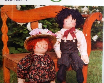 Decorative Doll And Clothing Simplicity Crafts 8209 Uncut Sewing Pattern 1992
