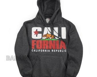 California Republic CALI Bear Pullover Hoodie