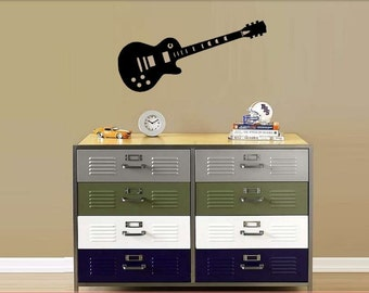 Guitar Wall Decal - Guitar Decal - Electric Guitar Decal - Boy's Room Decal - Guitar Decorations - Music Wall Decorations - Guitar Wall Art