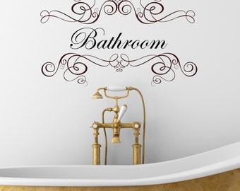 bathroom wall quote decals wall tattoo wall art wall quote home