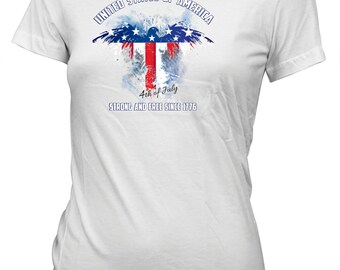 Fourth of July Independence Day T-Shirt for Juniors