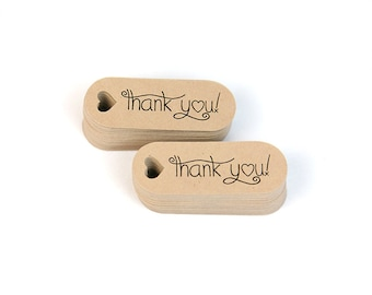 Thank you mini hang tags - small favor tags