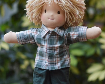 Handmade Waldorf Doll - Boy - Blond