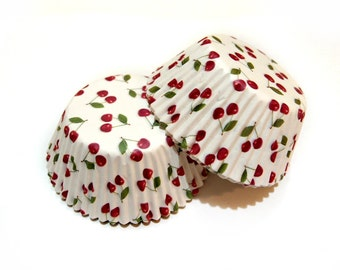 Red Cherry Cupcake Liners(50)