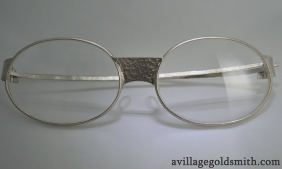 Eyewear Frames Made In Usa : Sterling Silver Eyeglasses Made in the USA by VillageGoldsmith