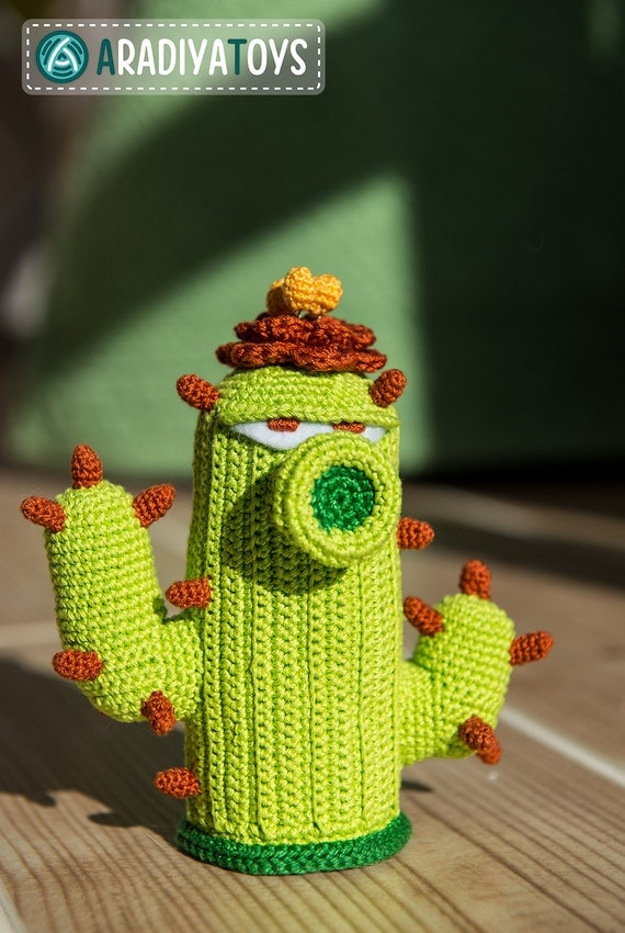 Crochet Pattern of Cactus from Plants vs Zombies (Amigurumi tutor...
