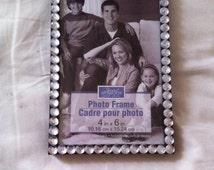 Clear Rhinestone Picture Frame, 4x6