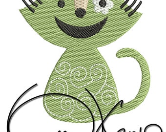 MACHINE EMBROIDERY FILE - Cat