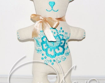In the hoop MACHINE EMBROIDERY File - ITH Tender Bear