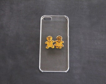 Girly iPhone 5 Cases Cute iPhone 7 Case Adorabe iPhone 5 Cases iPhone 5c Gingerbread Holiday iPhone Case Christmas Phone Case Gold iPhone 6