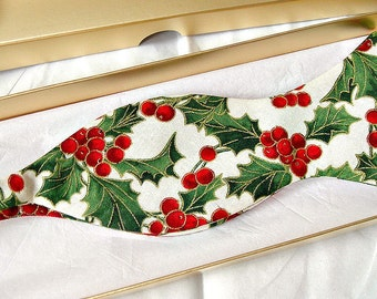Christmas bowtie self tie festive bow tie