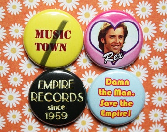 Empire Records- One Inch Pinback Button Magnet Set