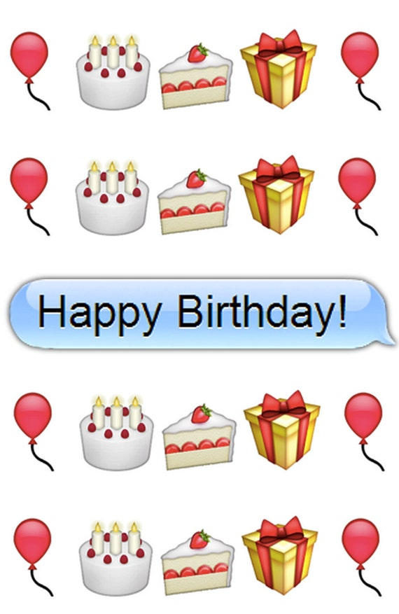 emoji happy birthday - photo #10