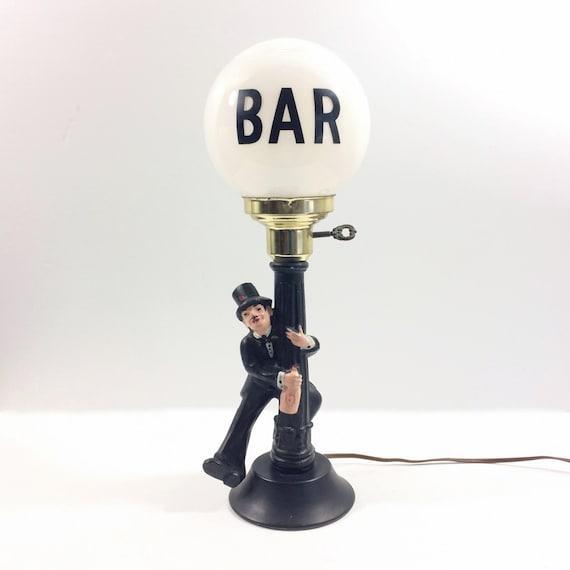 Vintage Bar Lamp Post Drunk With Charlie Chaplin
