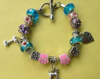 Chihuahua Dog European Style Charm Bracelet