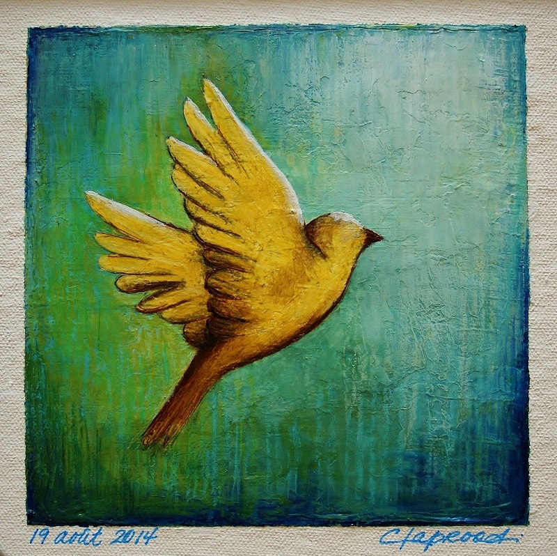 Yellow Bird Painting | www.pixshark.com - Images Galleries ...