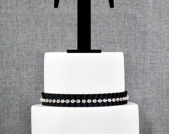 Letter T - Initial Cake Topper, Monogram Wedding Cake Topper, Custom Cake Topper