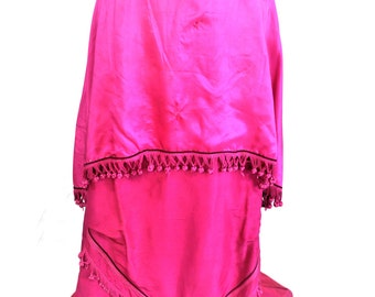 Fuschia pink layered Edwardian Skirt