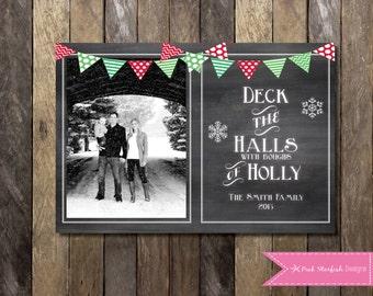 Chalkboard Christmas Card, Holiday Card, Photo Christmas Card, Christmas Card, Chalkboard, Chalkboard Holiday Christmas Card, Photo Card