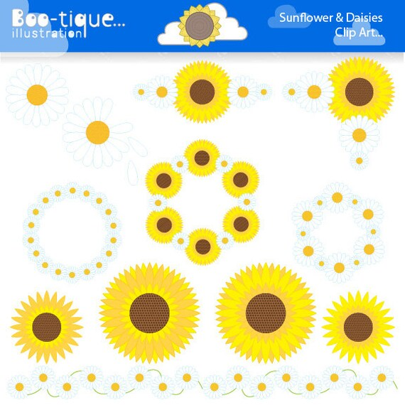 Sunflower Clipart. Daisy Clipart. Summer by ...