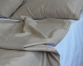 Twin / Twin XL Duvet Cover Set Brown Cotton Dorm Bedding Home Decor Quilt Cover with Euro sham pillowcase