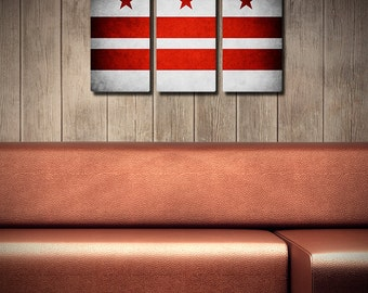 Washington DC Flag Triptych (w/ Free Shipping!)