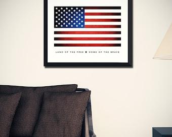 American Flag Art Print (w/ Free Shipping!)