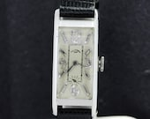 Platinum Paul Ditisheim Diamond Dial Wrist Watch