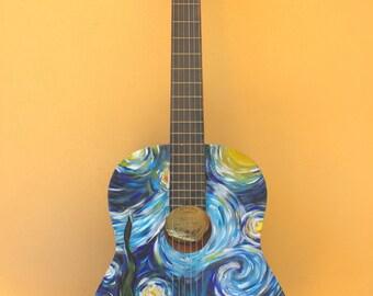 Classic guitar Vincent Van Gogh
