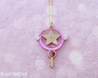 CARDCAPTOR SAKURA Clow Star Key Necklace / Mini (Pre-Order)