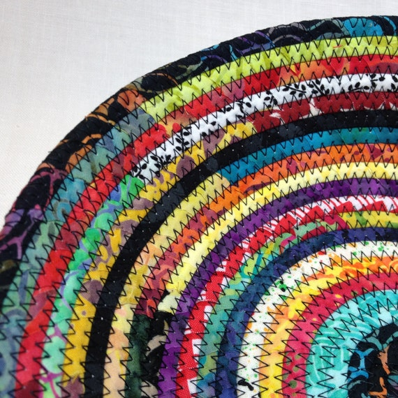 Diy Rag Rug Basket: Rag Rug Fabric Basket Small By NanaZebra On Etsy