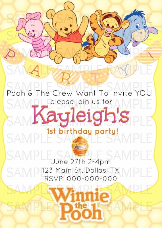 1st Birthday Ideas Winnie The Pooh First Birthday