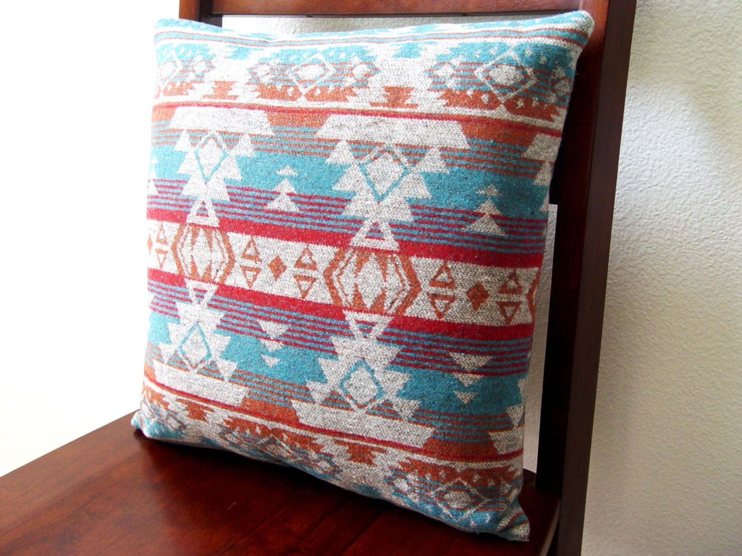 Southwestern Pillows And Throws : Southwestern Decorative Pillow 15 x 15 by NakedTurtleCreations