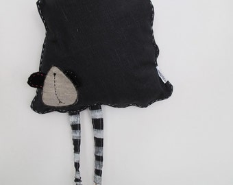 wall decoration / children toy - funny black sheep