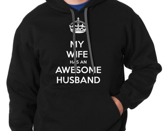 Gift For Husband My Wife Has An Awesome Husband Sweatshirt Sweater Gift For Him Anniversary Gift
