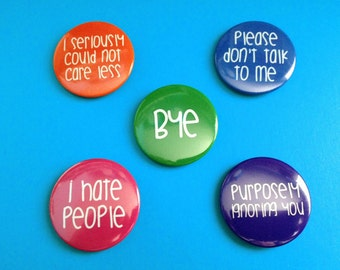 Anti-Social Pinback Buttons