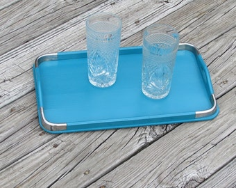 Cottage Shabby Chic Aqua Wooden Serving Tray Beach  Décor  Cottage Kitchen