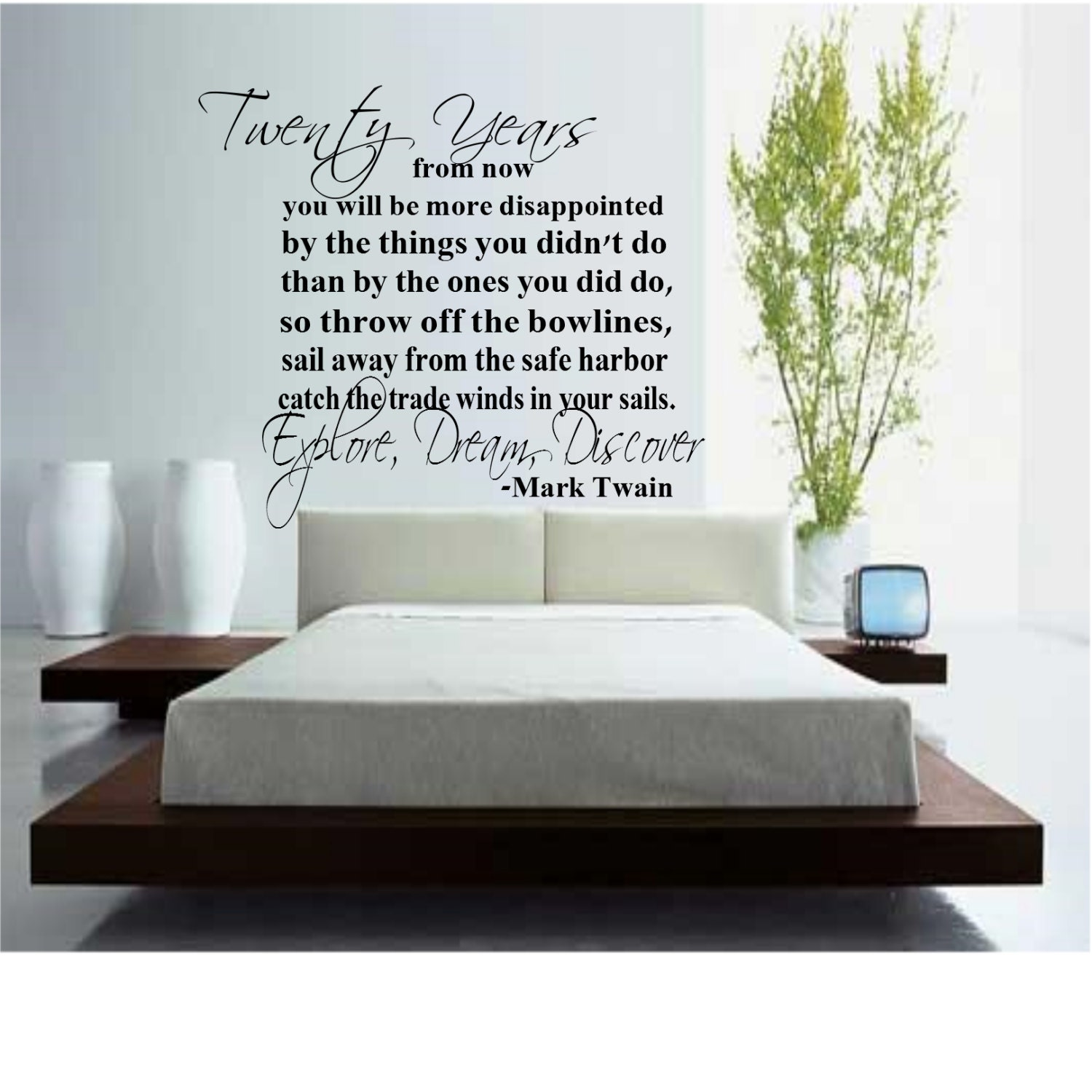 Twenty Years from Now Wall Decal Quote by DecalsAffordable