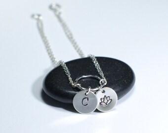 Lotus bracelet, Personalized bracelet, Yoga jewelry,  Zen jewelry,Spiritual jewelry, Personalized jewelry