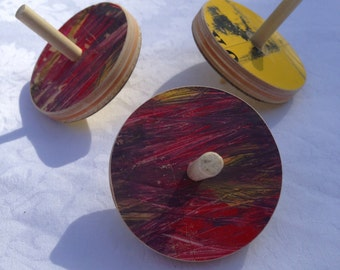 Recycled skateboard Spinning top toy