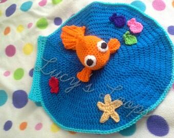 Handmade Crochet Goldfish Lovey