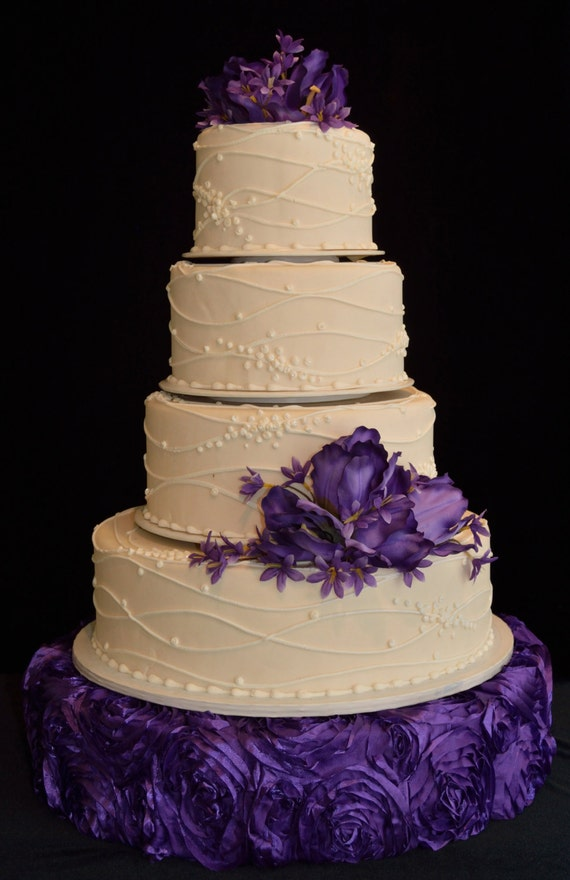 how big should a wedding cake stand be items similar to wedding cake stand large purple on etsy 15359
