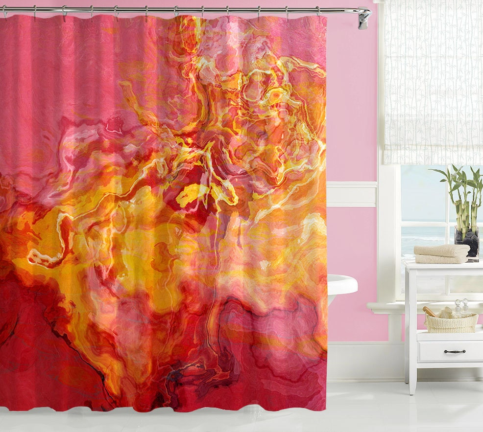 contemporary shower curtain abstract art bathroom by artpillow