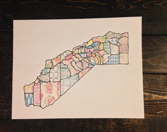 Patchwork California State Art