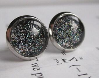 Blackbody - Earring studs - science jewelry - science earring - galaxy jewelry - physics earrings - fake plugs - plug earrings - nebula stud